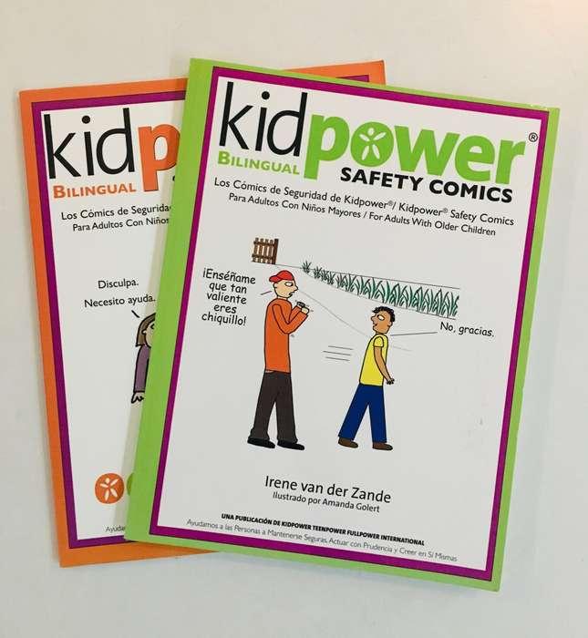 Libros educativos anti bullying KID POWER, en ingles y español.