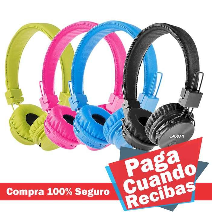 Audifonos NIA Bluetooth Radio MP3