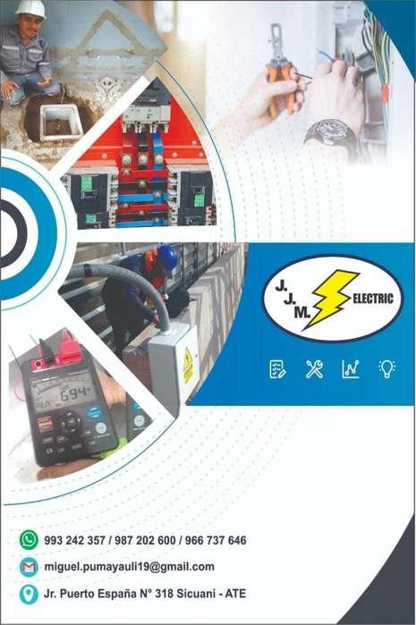 Instalaciones Eléctricas ,Pozos a Tierra Certificado Firmado,Planos Eléctricos, Camaras de Seguridad (J.J.M. Electric)