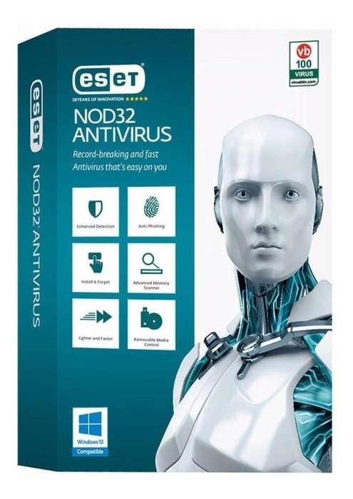 Eset Nod32 Antivirus 1 Año Una Licencia Original Para 2pc