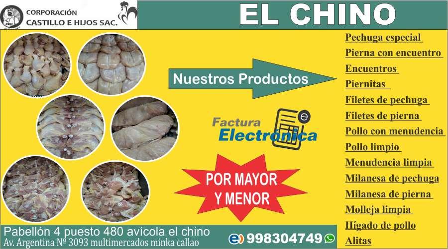 VENTA DE POLLOS Y CORTES ESPECIALES X MAYOR Y MENOR - DELIVERY - 998304749