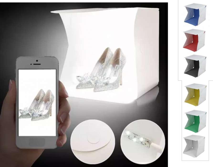 caja de luz, mini <strong>estudio</strong> con 2 luces led