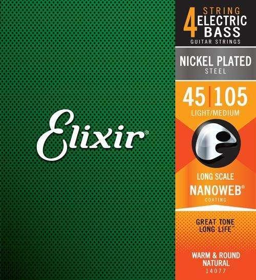 Encordado Bajo Electrico 4 Cuerda Elixir Usa Nanoweb 045-105