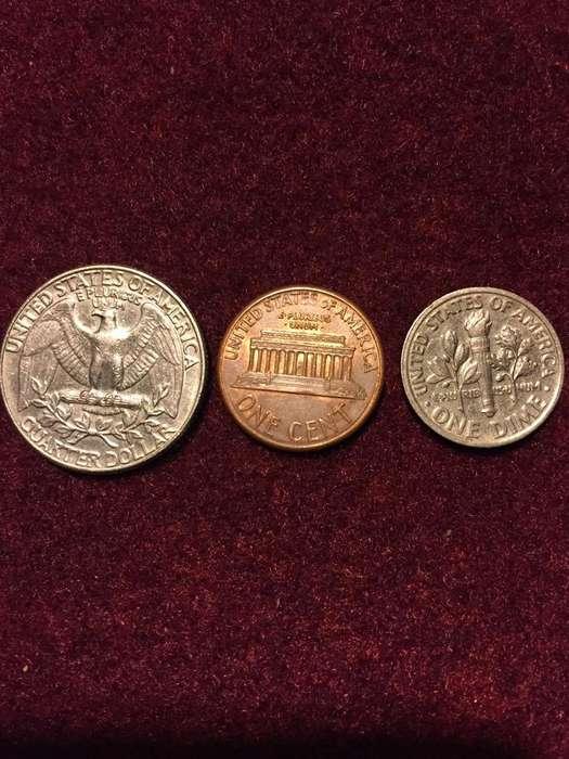 Lote de Tres Monedas Norteamericanas