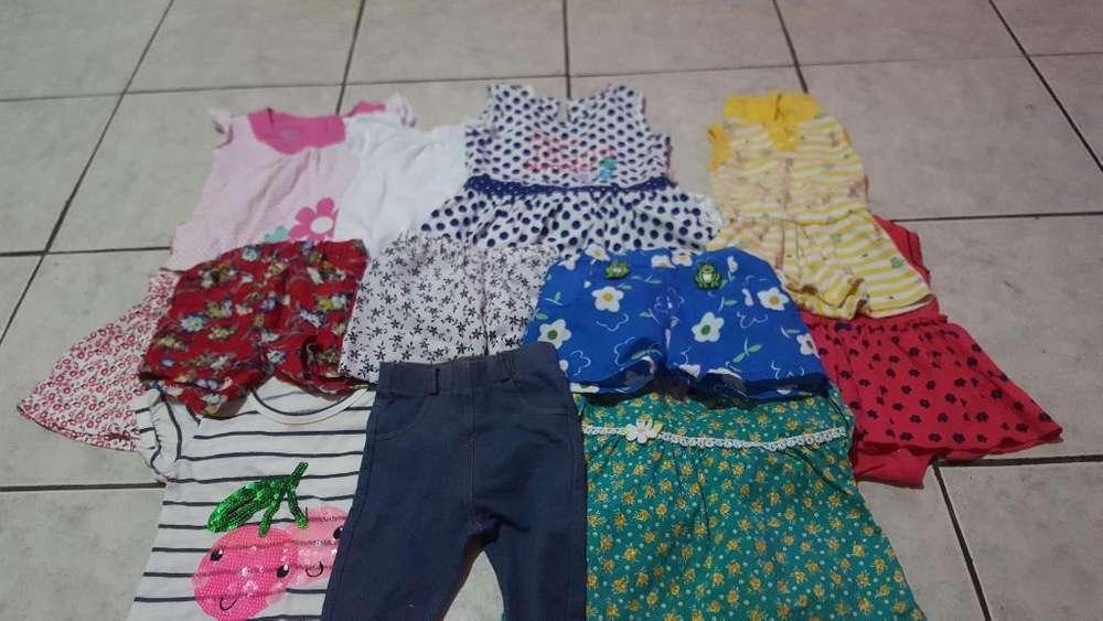 Lotecito de <strong>ropa</strong> de Niña de 6 a 12 Meses