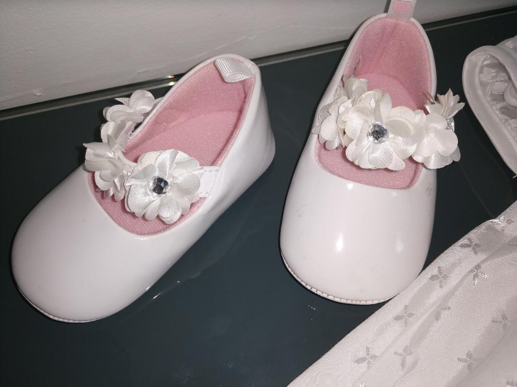 Vestido Y Zapatos Bautizo Niña