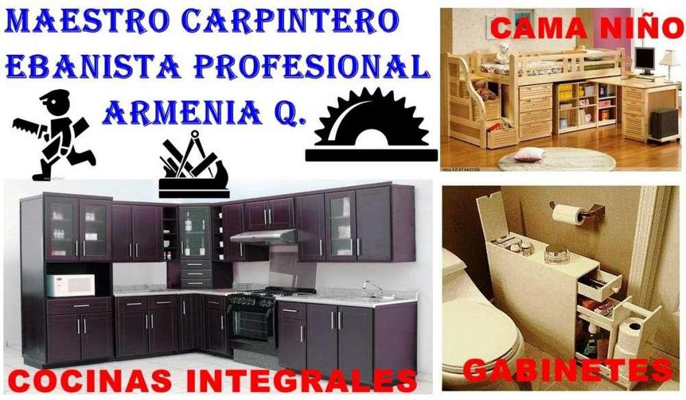 ARMENIA Q, CARPINTERO PROFESIONAL MAESTRO EBANISTA, INSTALADOR, RESTAURADOR, COCINA INTEGRAL EN ARMENIA, SOLUCIONES.