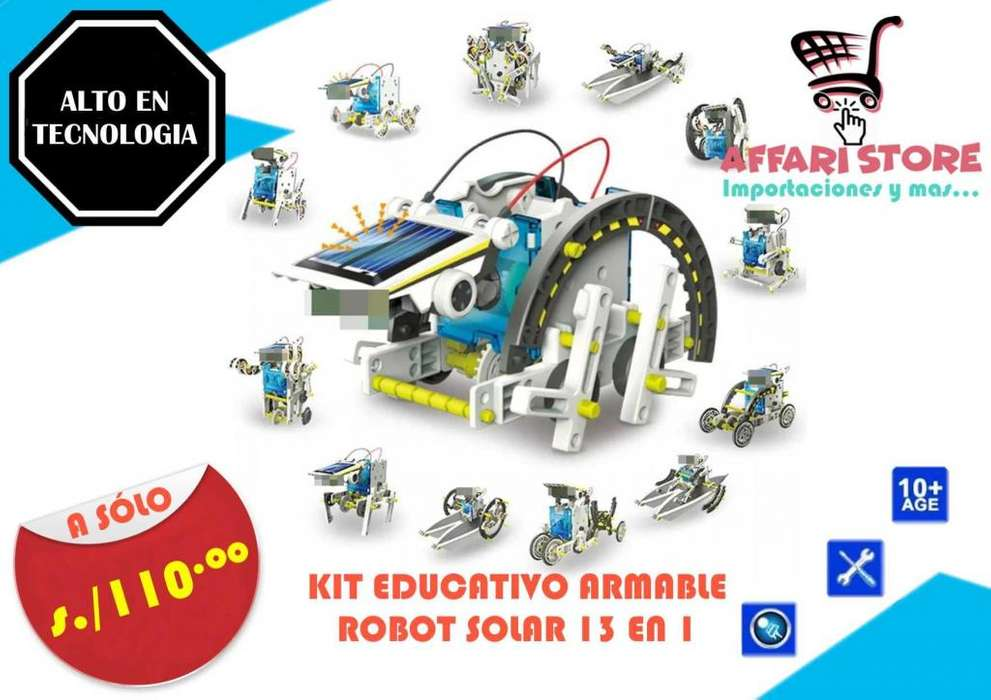 Kit Educativo Solar Robot 13 en 1