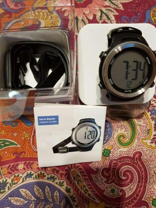 Vendo Smartwatch Instto Insport Heart Rate Cardio Negro/Plateado SwInB01blk, nuevo en caja.