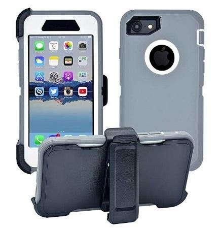 Case para iPhone 7/8 , Gris/Blanco