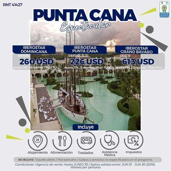PUNTA CANA ESPECTACULAR DESDE 800.000 POR PERSONA SIN TIQUETES WWW WEBAVIAJAR COM 305 3263880