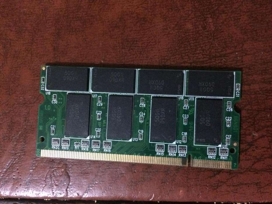 Mmeoria ddr de 512 para portatil