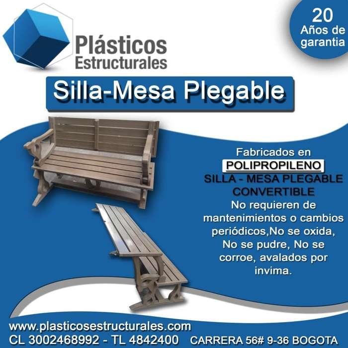 Silla - Mesa plegable convertible