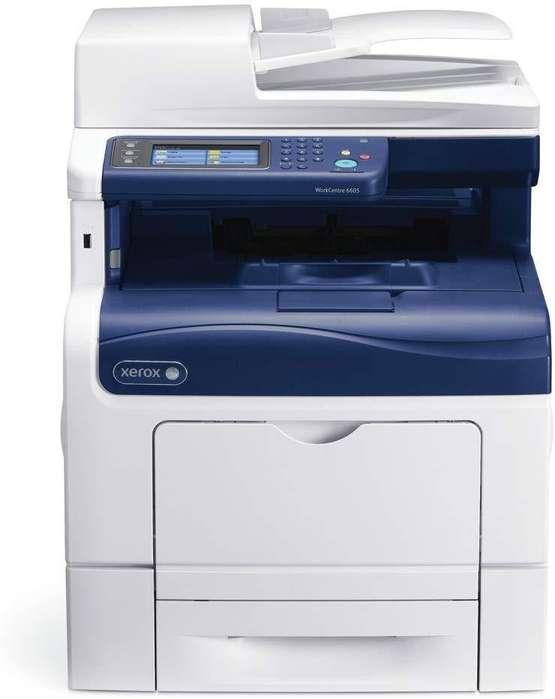 Xerox WorkCentre 6605 DN - Impresora multifunción láser (Color, 600 x 600 dpi, 35 ppm, Seminueva)