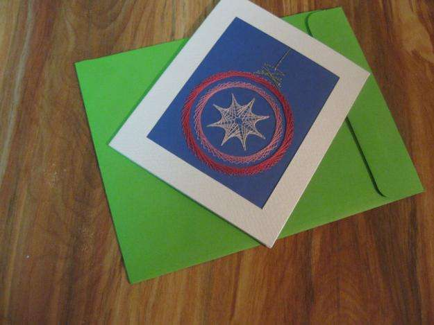 Tarjetas Navideñas Bordadas sobre papel