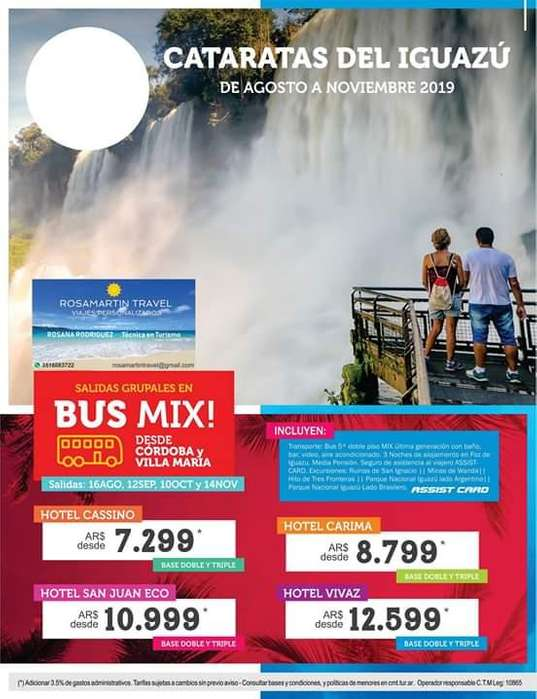 Cataratas en Bus