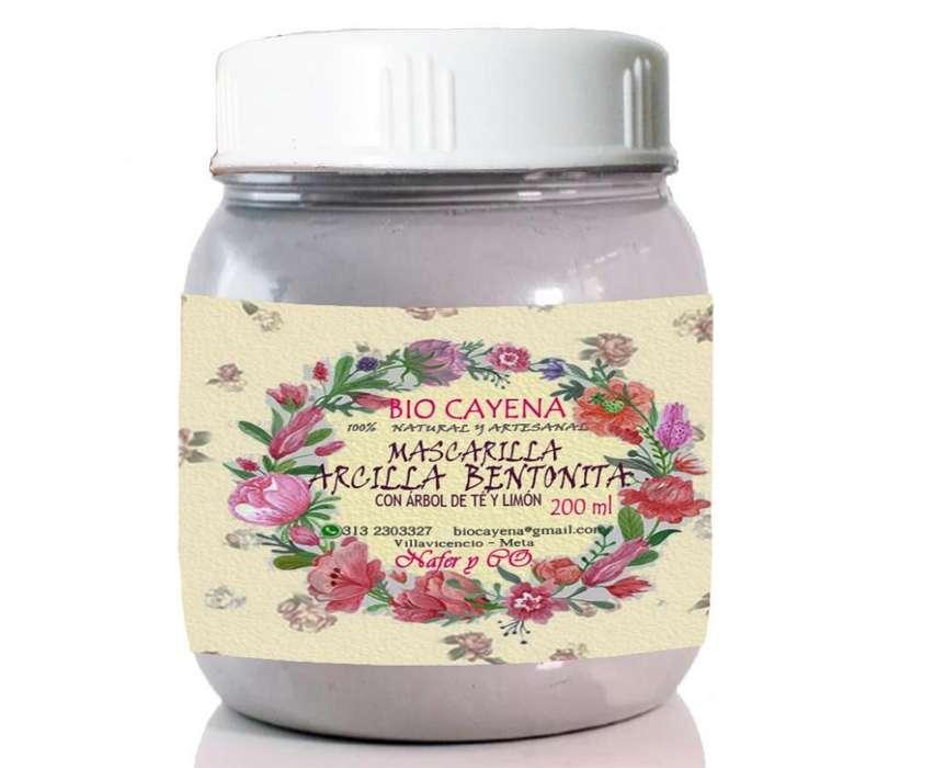 Mascarilla De Arcilla Bentonita Extractos De Hierbas/200ml