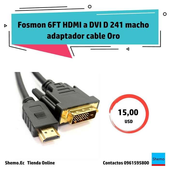 Fosmon 6FT HDMI a DVI D 241 macho adaptador cable Oro HDTV LED LCD Enchufe Del Cable