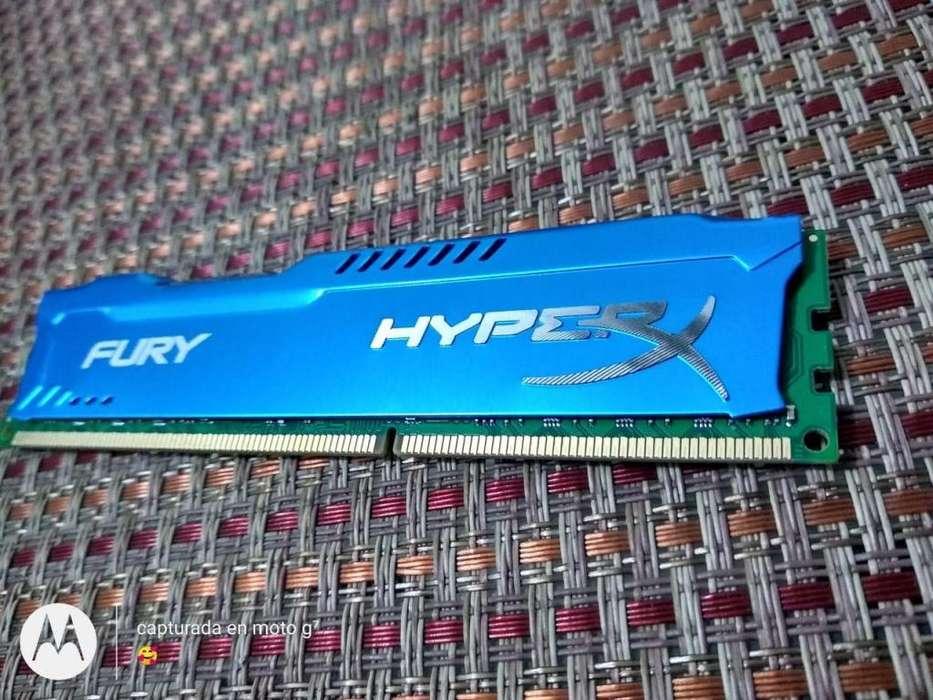 MEMORIA RAM DDR3 8GB 1600 Mhz MARCA HYPERX FURY