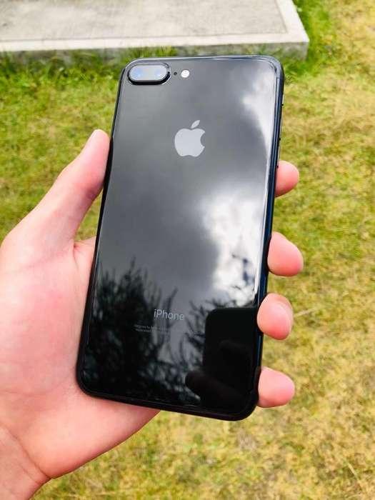 iPhone 7 Plus Jetblack Negro Impecable