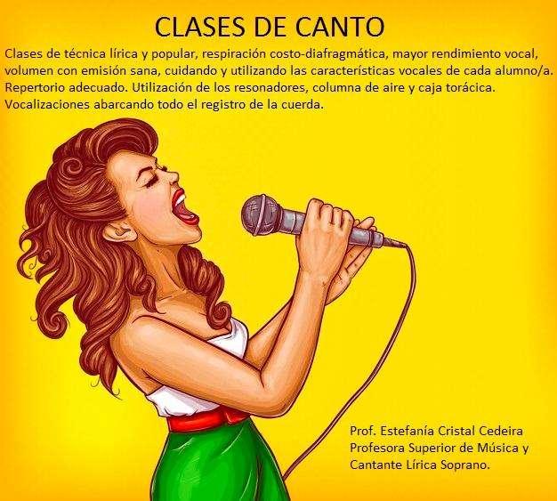 Clases de canto!! Técnica vocal!!!