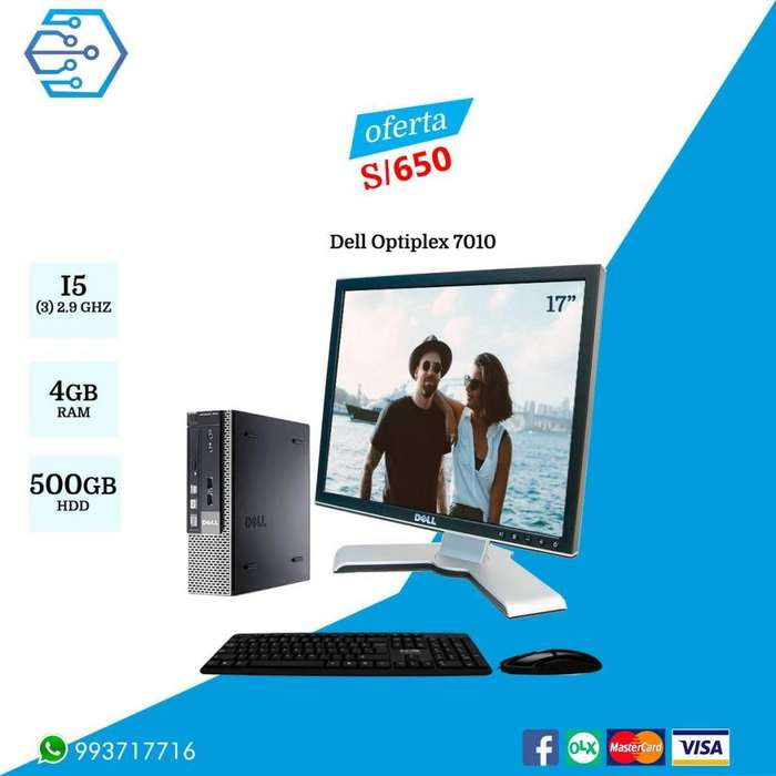DELL Optiplex 7010 - Core i5 3Gen, Ram 4Gb, Hdd 500Gb Monitor 17