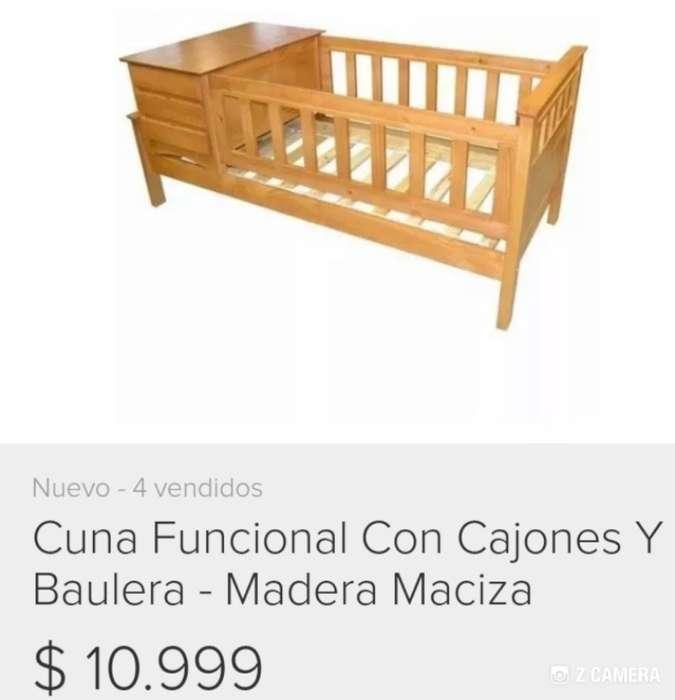 Cuna Funcional con Colchón.