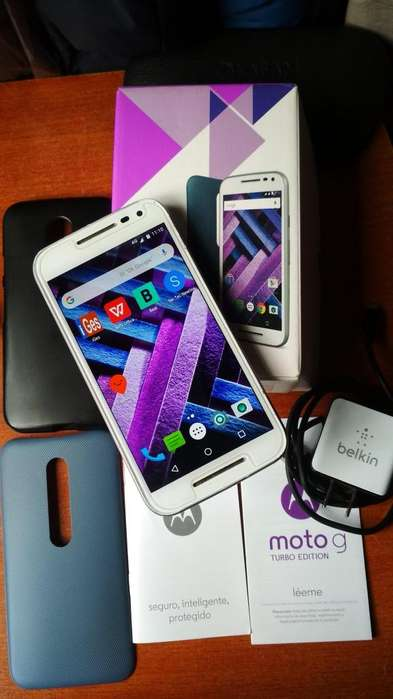 MOTO G3 TURBO EDITION 16GB Y 2 GB DOBLE SIM LEGAL EXELENTE ESTADO