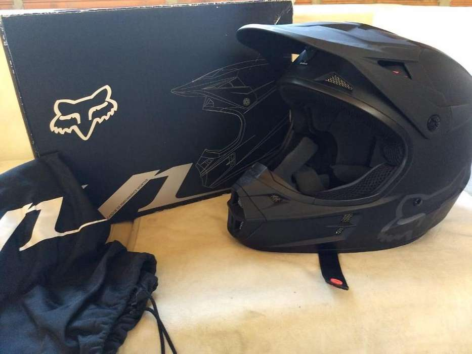 Casco Fox V1 talla L Negro Mate