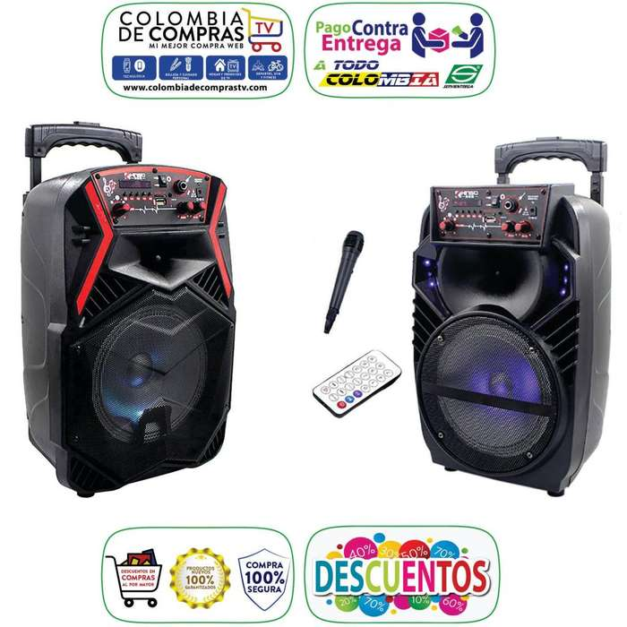 Cabina Sonido Bluetooth 250 W PMPO Micrófono Control, Nuevas, Originales, Garantizadas...