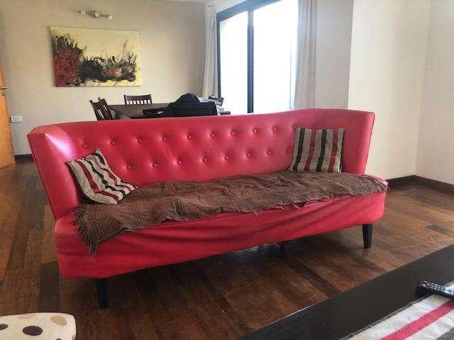 <strong>sillon</strong> estilo retro de ecocuer rojo