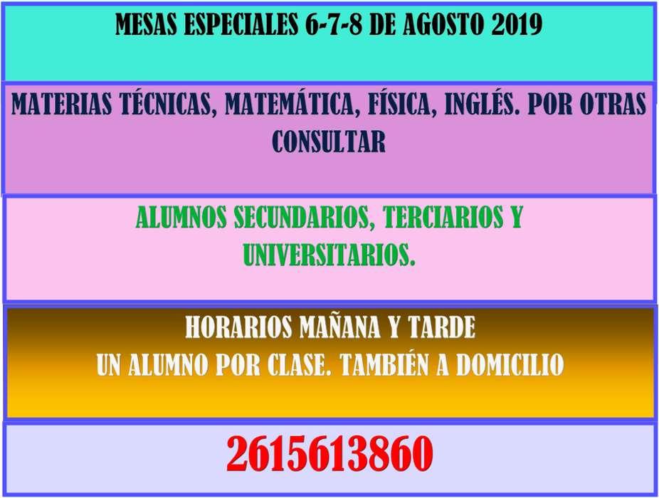 MESAS DE EXAMEN AGOSTO 2019.