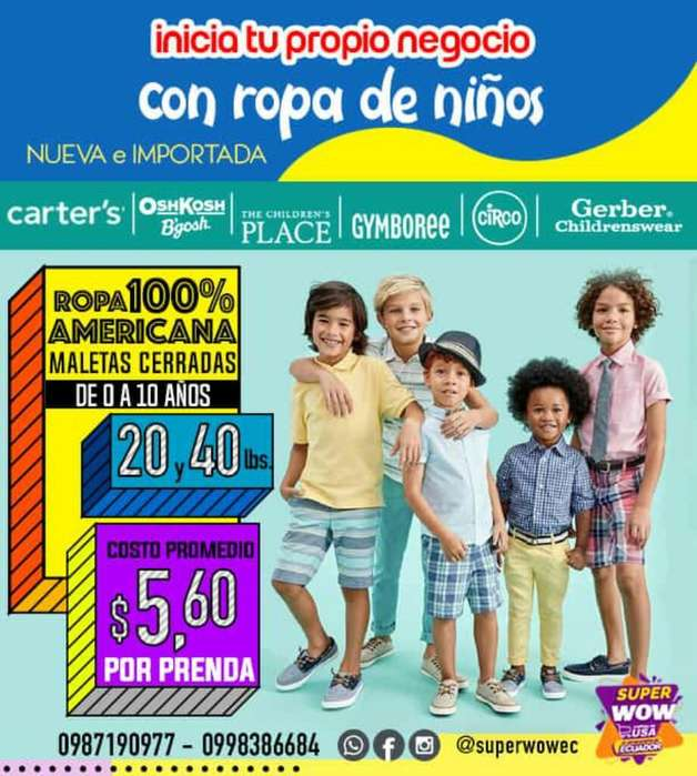 <strong>ropa</strong> Americana para Niños