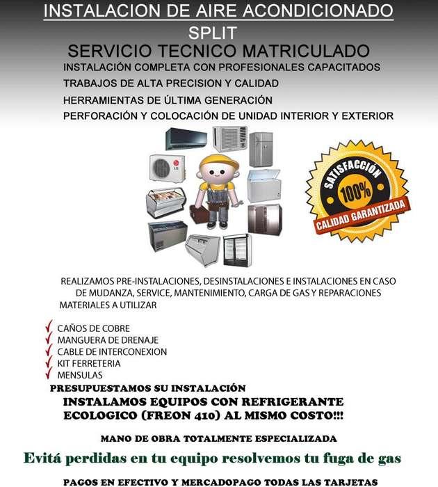 INSTALACION DE AIRE ACONDICIONADO 153702030