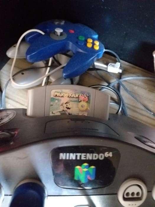 Nintendo 64 con 2 Palancas Y 1 Juego