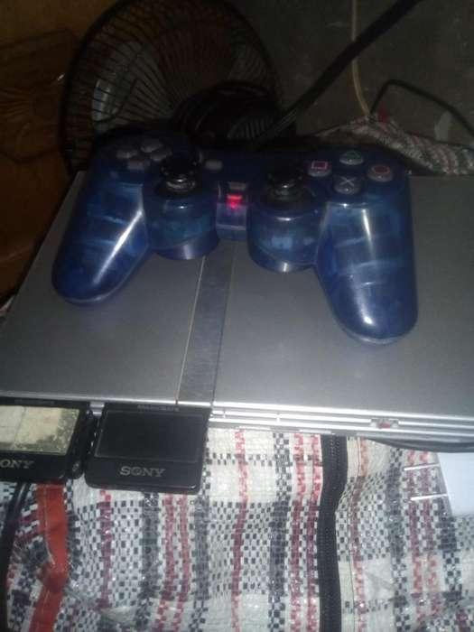 Play 2 con Un Control Azul Original
