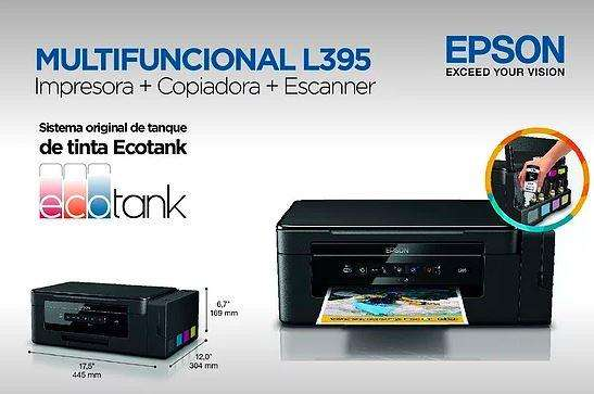 Impresora Multifunción Epson L395 Ecotank