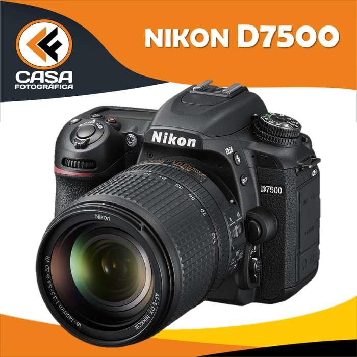 CAMARA NIKON D7500 con lente 18.140 mm KIT nueva Garantia 1 año