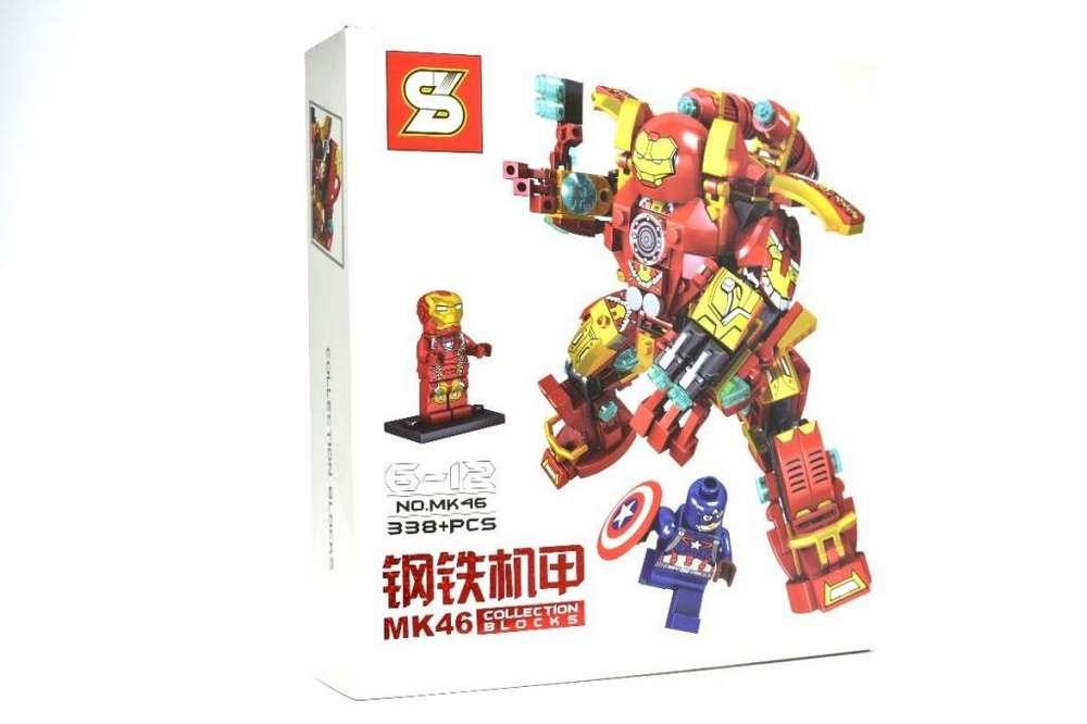 Héroe Hulkbuster Iron Man Mk46 Capitán América Figuras Lego