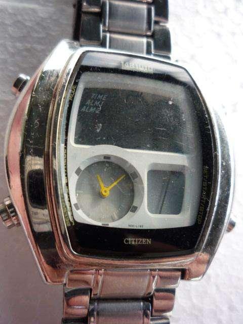 Reloj <strong>citizen</strong> Lcd Dual Time Steel Seiko vta o permut