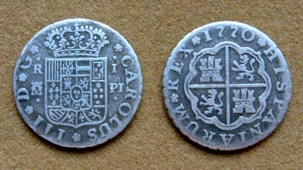 Moneda de 1 real de plata, España 1770
