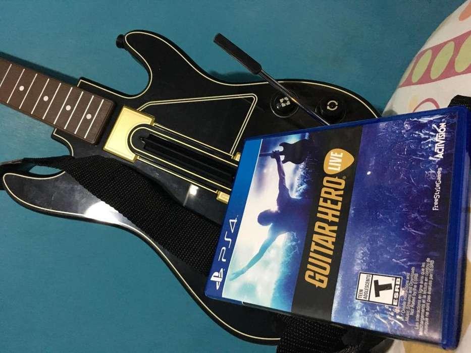 Guitar Hero Live con una guitarra para PS4