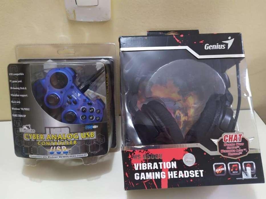 Venta Kit para gamers. audifonos y control para pc