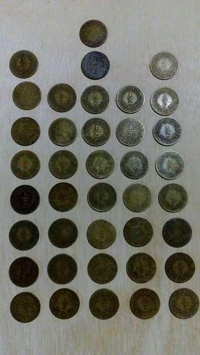 Vendo 39 Monedas 1/2 Sol Oro Peru