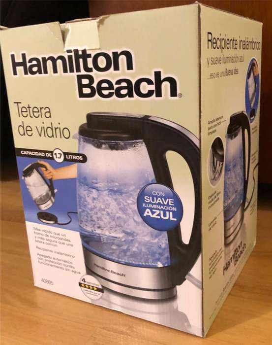 Hamilton beach glass kettle, tetera eléctrica SUPER PRECIO