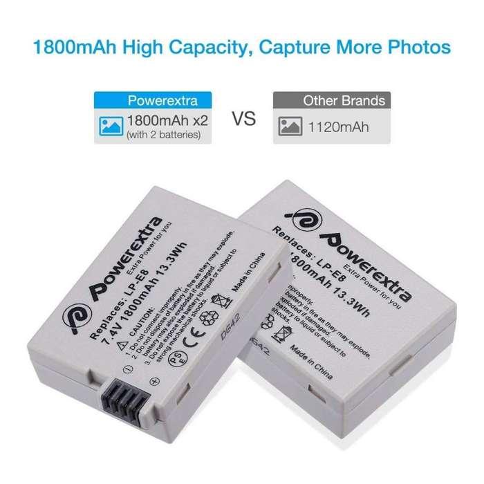 Baterias Con <strong>cargador</strong> Para Cámara Canon T2i T3i T4i T5i