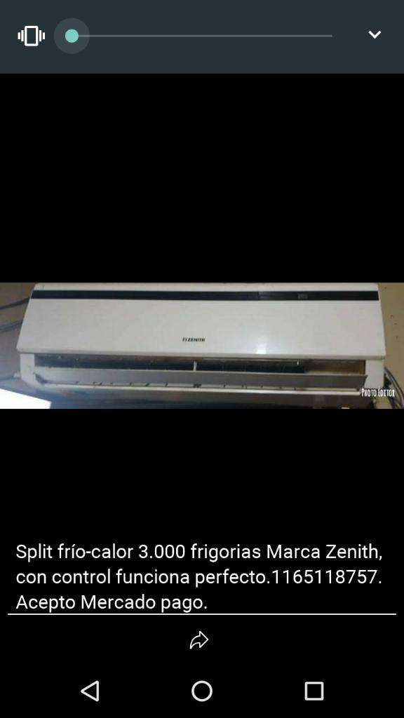 Split 3.000 Frigorias Frio Calor