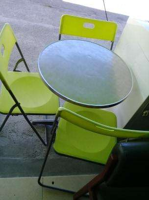 mesas en aluminio (heladeria)