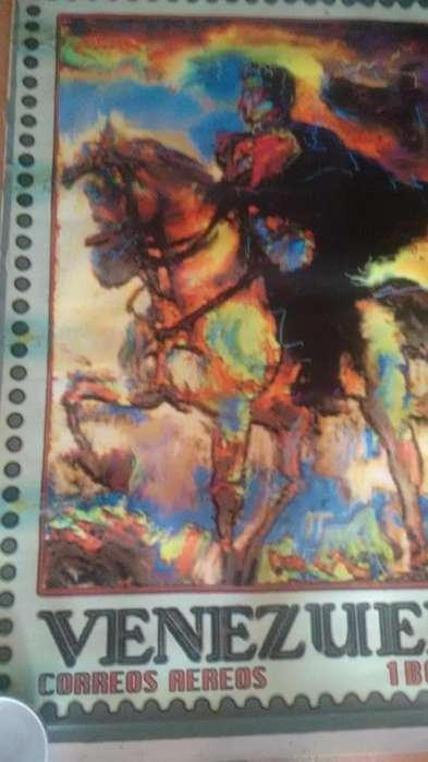 Hermosas Pinturas de SIMON BOLIVAR ineditas y Originales full color