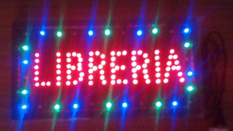 Cartel LED LIBRERIA